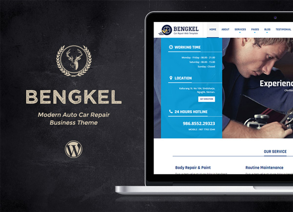 WordPress theme Bengkel - Modern Auto Car Repair Business Theme (Business)
