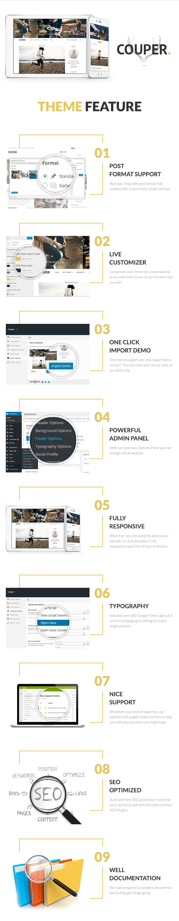 Responsive Personal Blog Theme - Couper