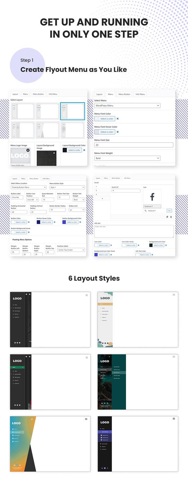 Plugin WordPress Menu Slide Vertical - Menu Flyout Awesome - 4