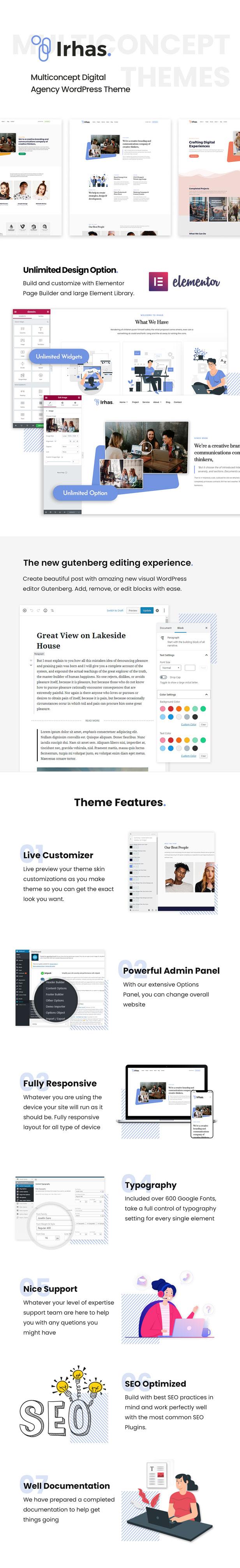 Irhas | Multi-concept Digital Agency WordPress Theme - 4