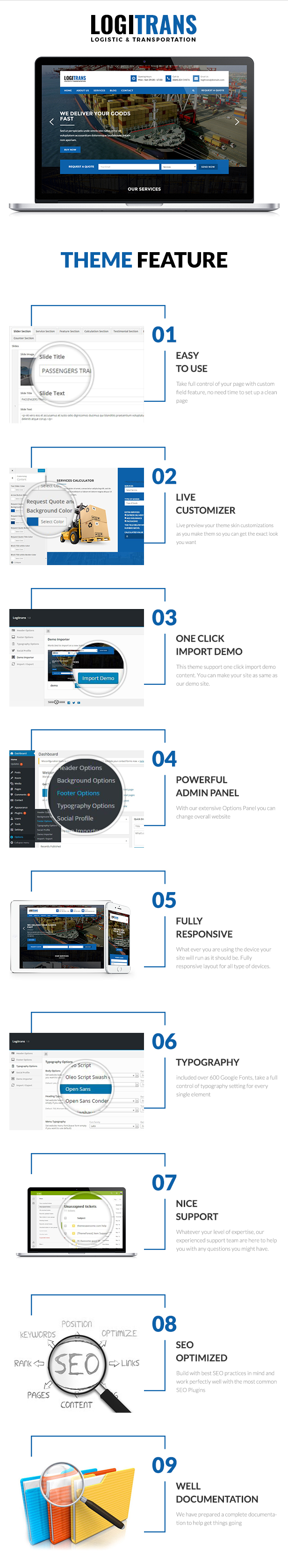 Logistic WordPress Theme - LogiTrans