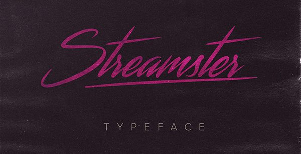 Streamster typeface font Download