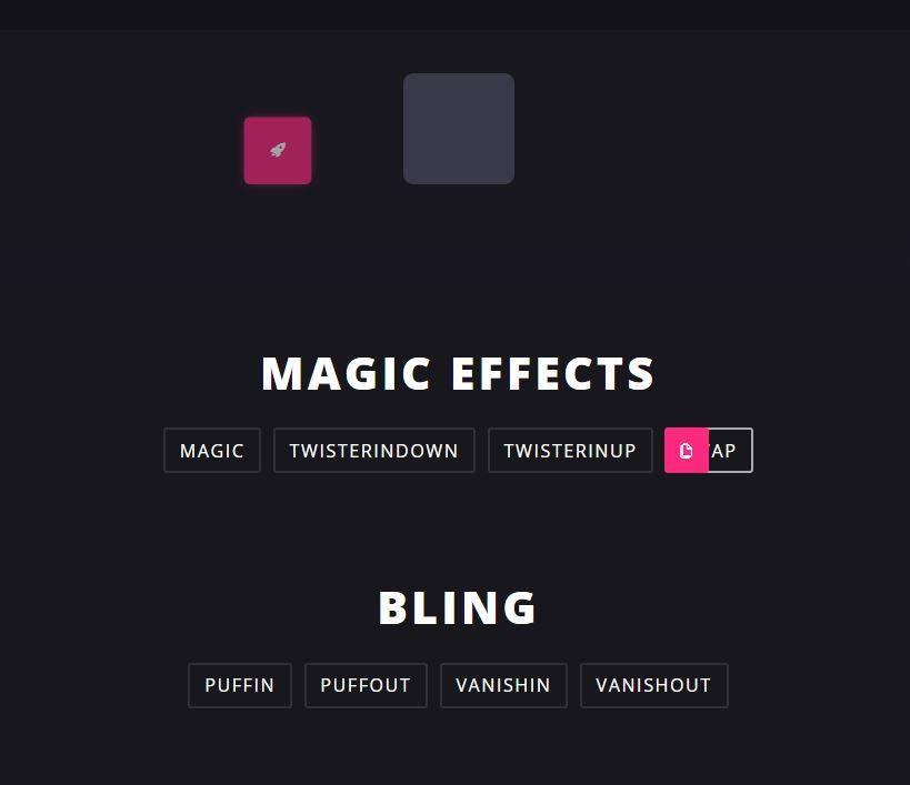 CSS3 Magic Animations