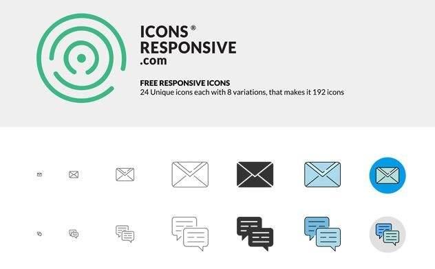 icon responsive