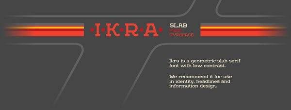 Ikra Slab Font Download