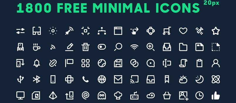 1800 featured icons