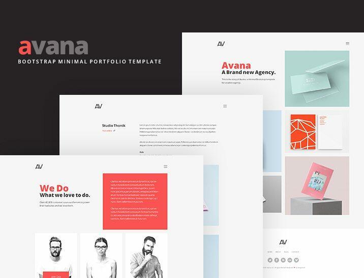 Avana minimal portfolio template