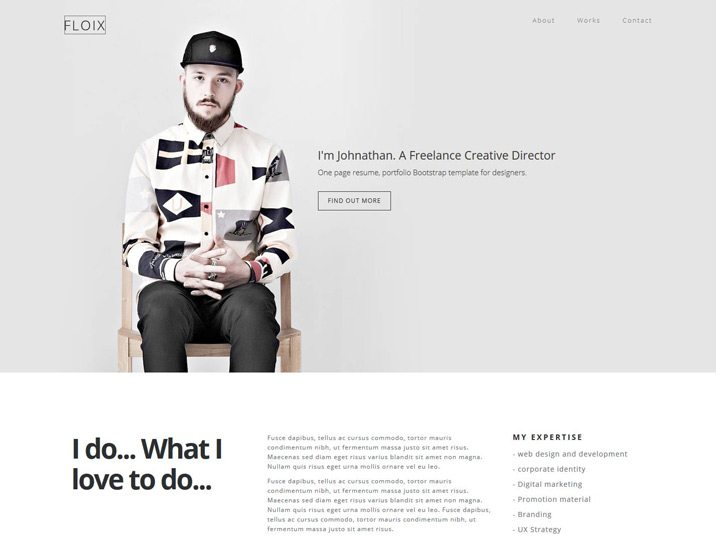 Floix Onepage Bootstrap Resume Template