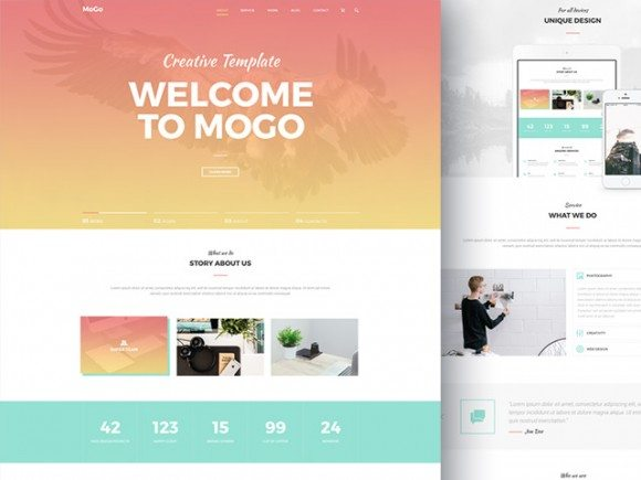 mogo free website template