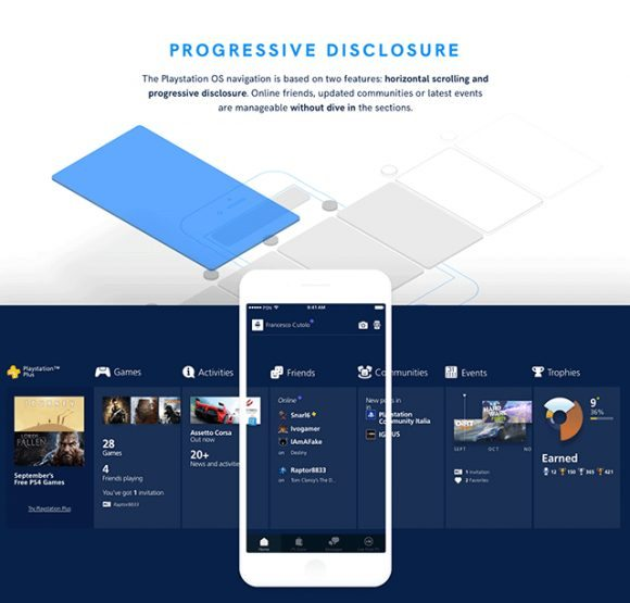 Playstation app redesign – Free Sketch UI kit - Themes Awesome