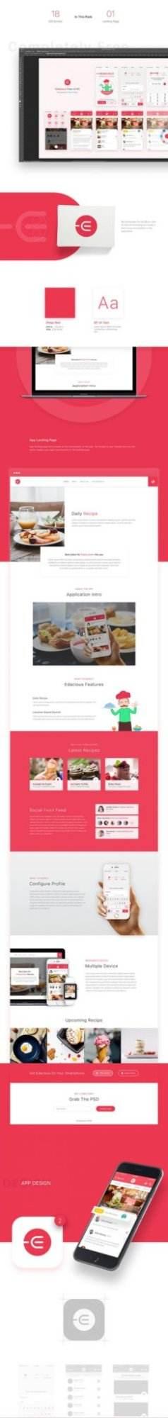 edacious free ui kit full preview