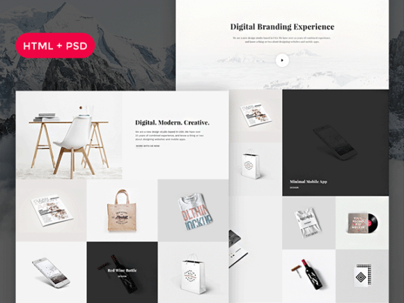 snow free html psd portfolio template