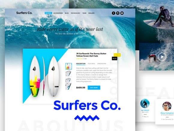 surfersco psd template