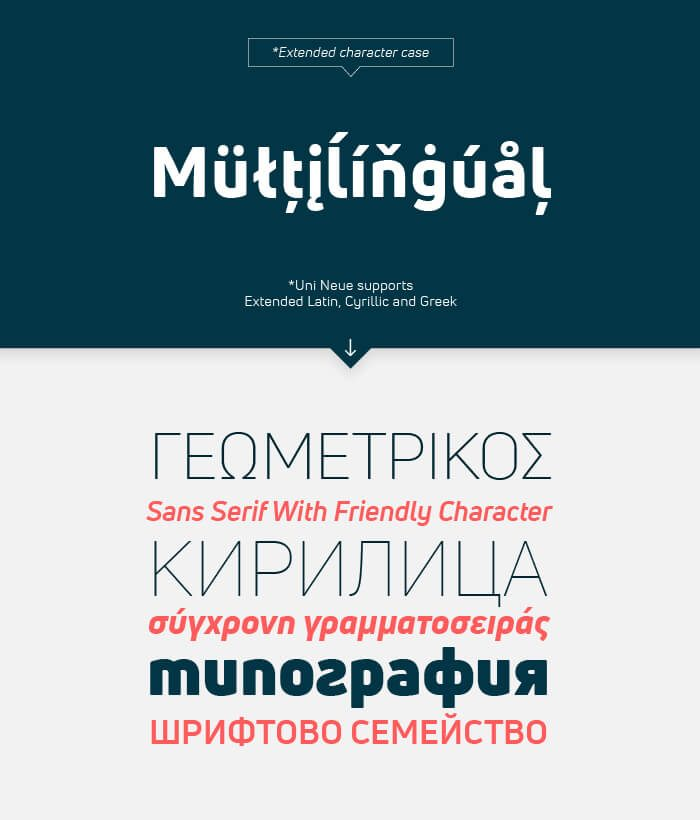 Uni Neue Font