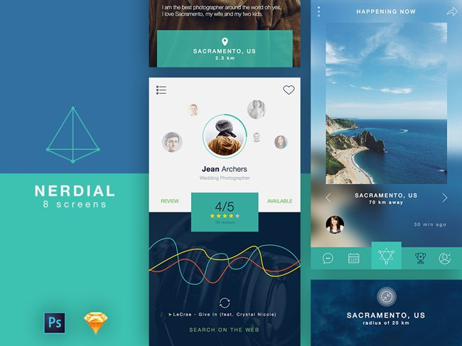 app ui kit psd sketch