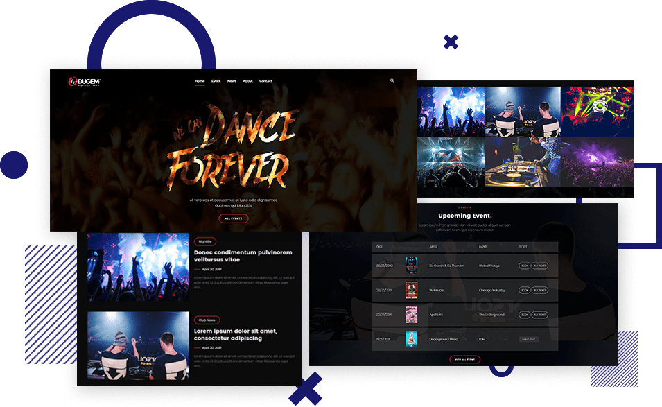 Dance Night Club WordPress Theme​
