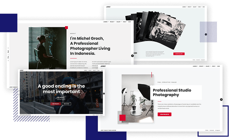 Modern WordPress Theme Photography