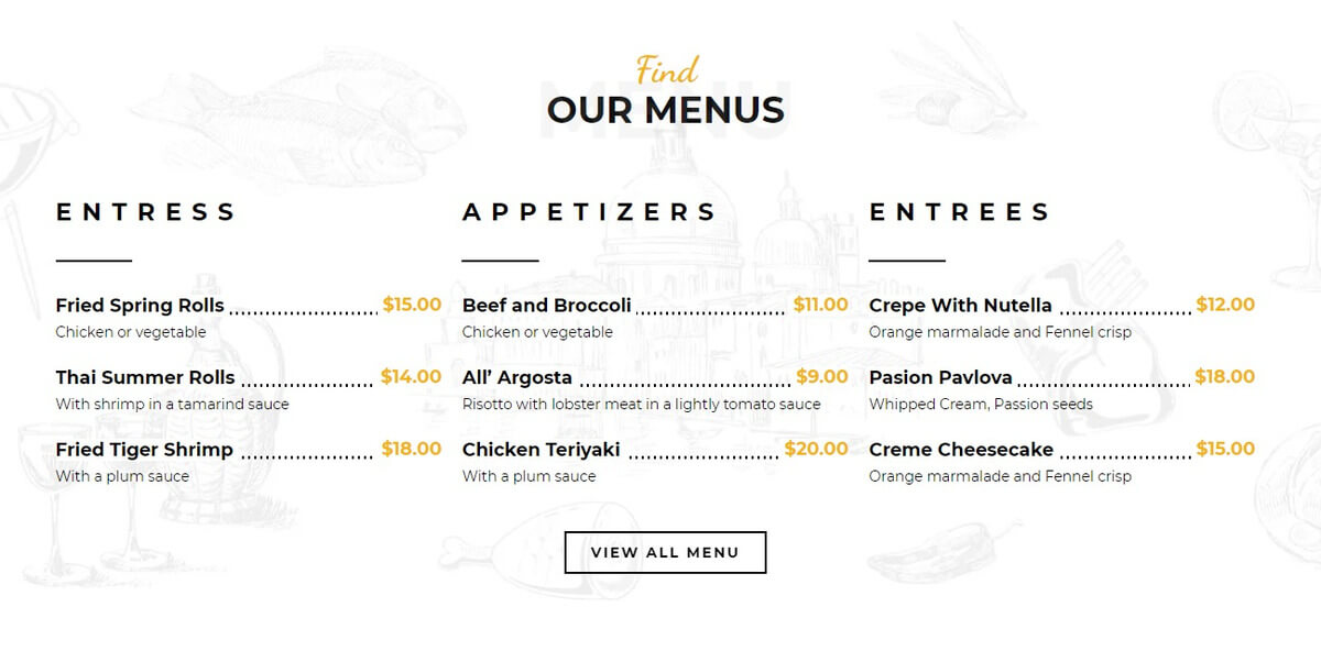 kasuari menu