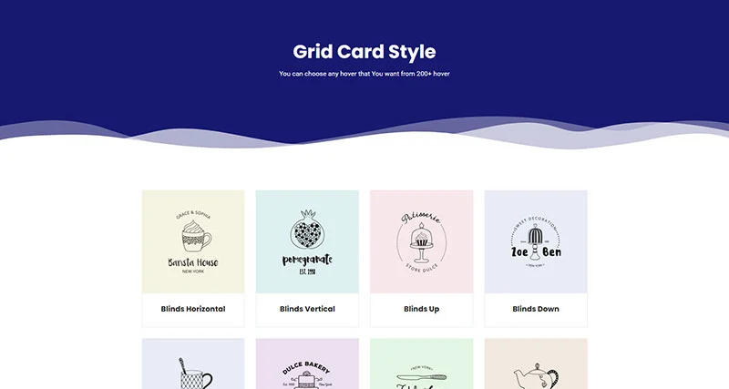 logo grid card