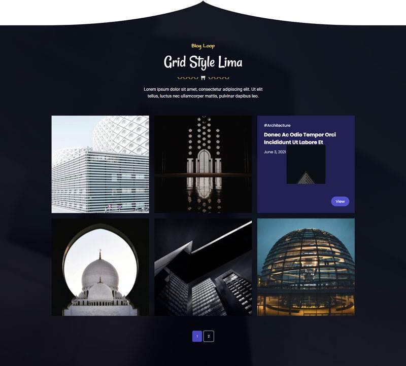 grid style lima