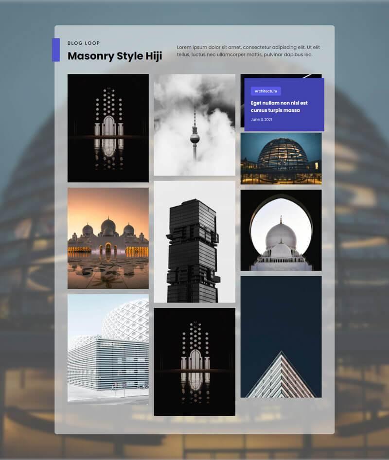masonry style hiji
